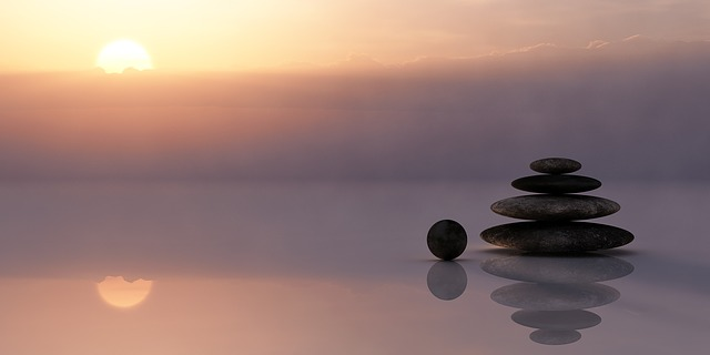 Balancing stones and still water